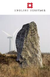 English Heritage standing stone and windmill